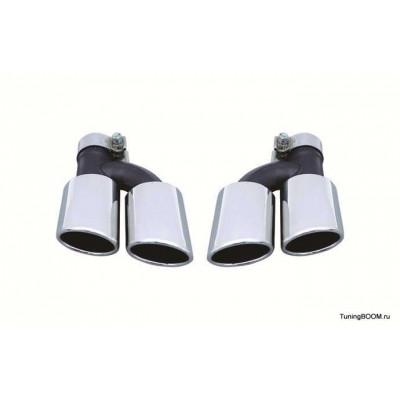 Насадки глушителя двойные S-Line стиль для AUDI